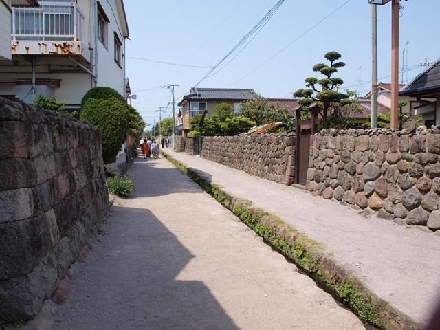 武家屋敷跡の通り