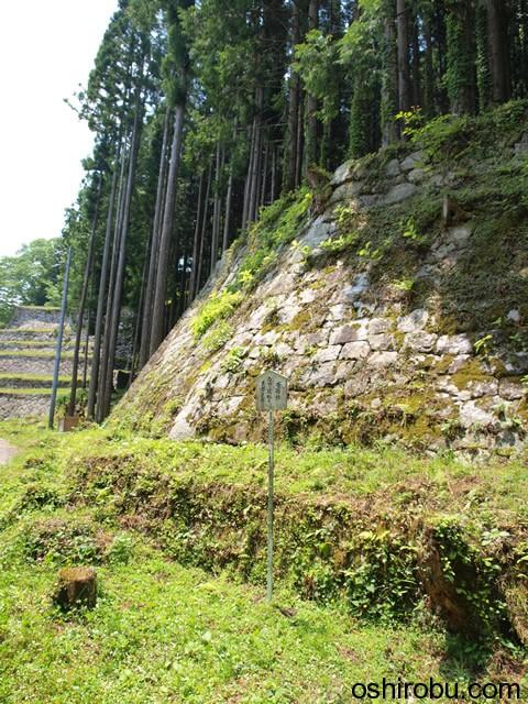手前の石垣