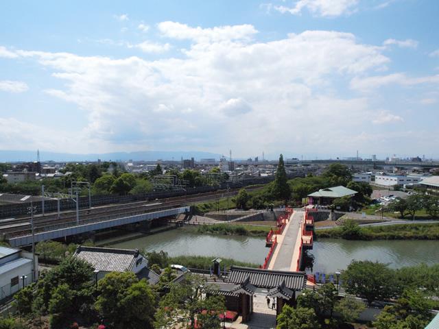 大垣城方面