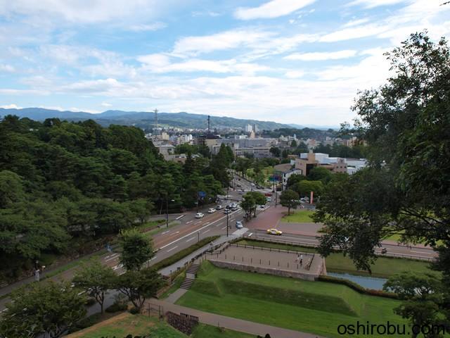 辰巳櫓跡からの景色