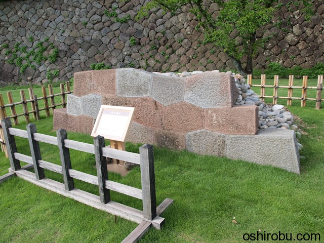 石垣の展示