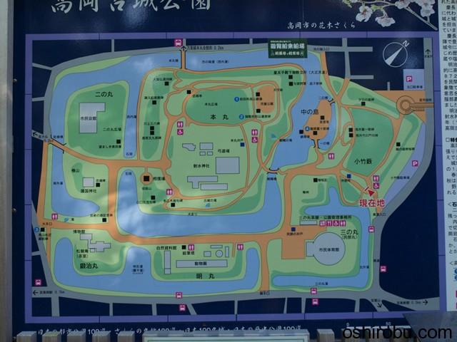 高岡古城公園地図
