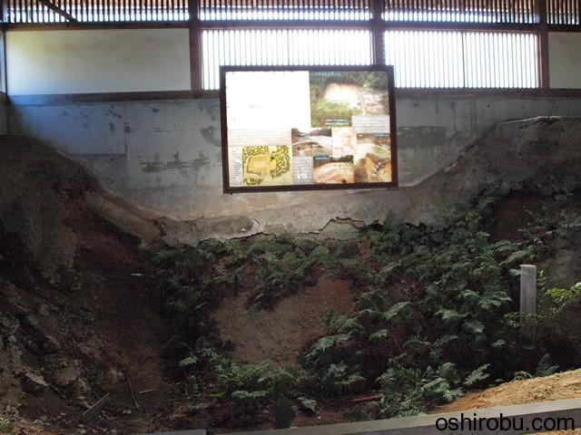 空堀覆屋の内部