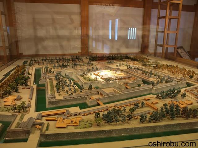 駿府城縄張の模型