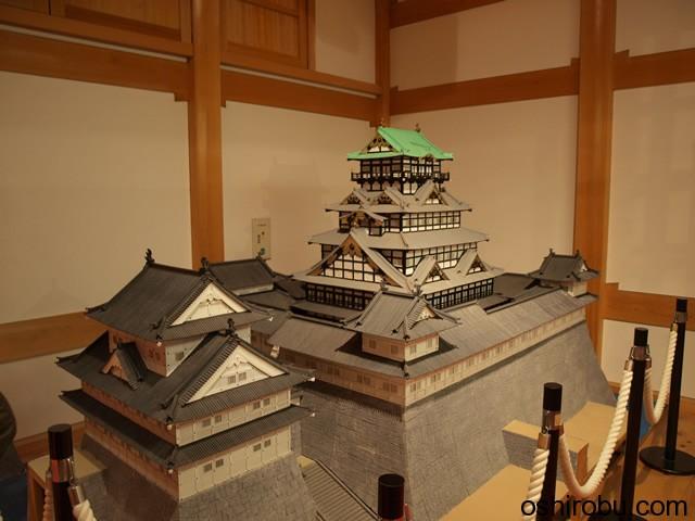 駿府城天守閣の模型