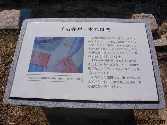 千石井戸と本丸口門の説明