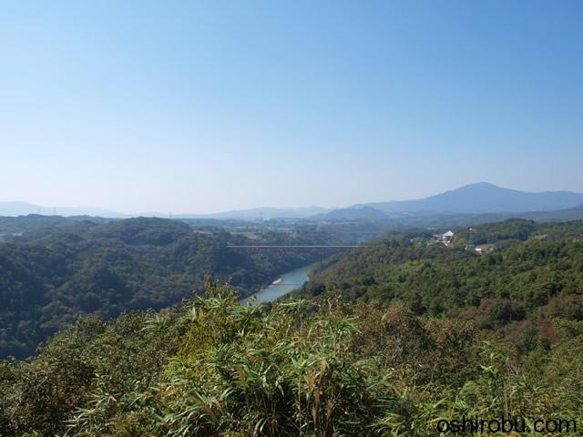笠置矢倉跡からの眺望
