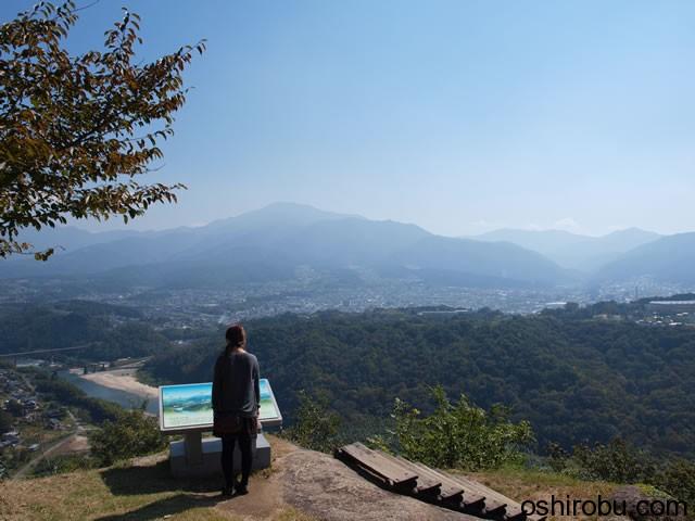 天守台付近からの眺望