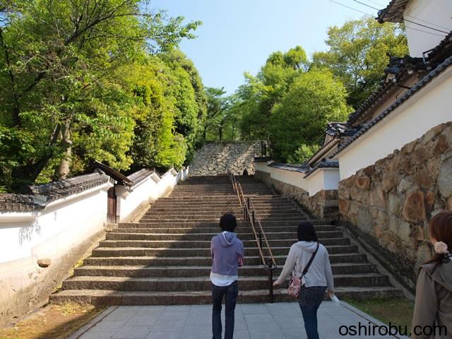 平山城に分類される津山城