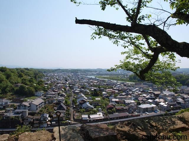 眼下に津山の町