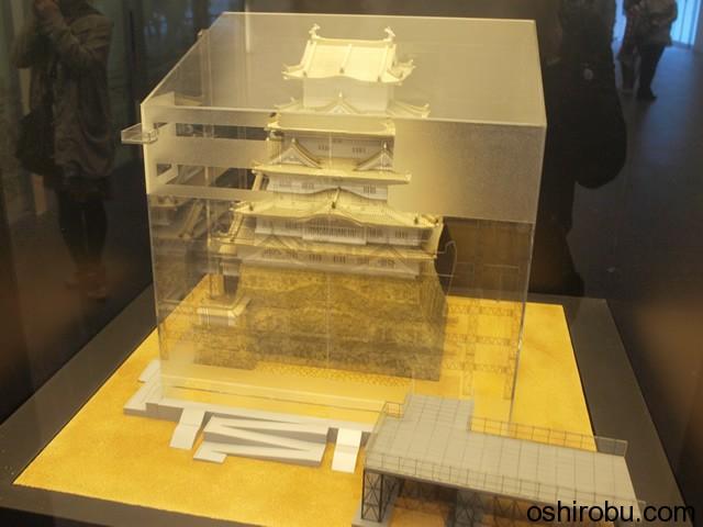 姫路城の精巧な模型
