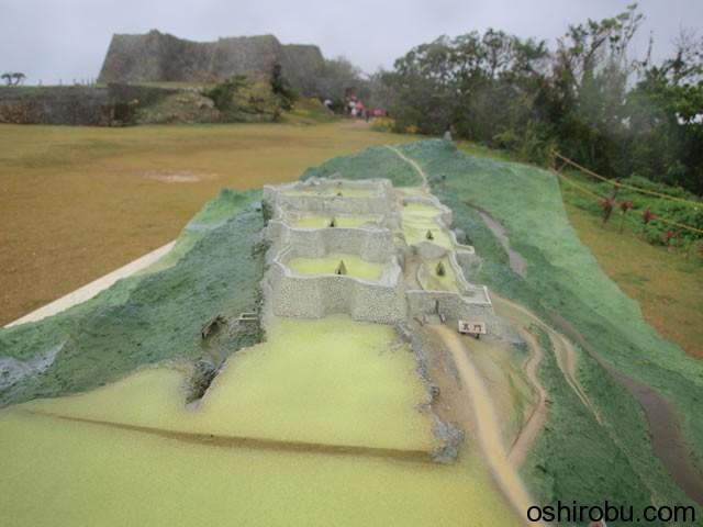 中城城の模型
