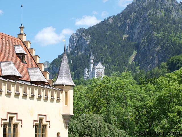 ノイシュバンシュタイン城も見えます