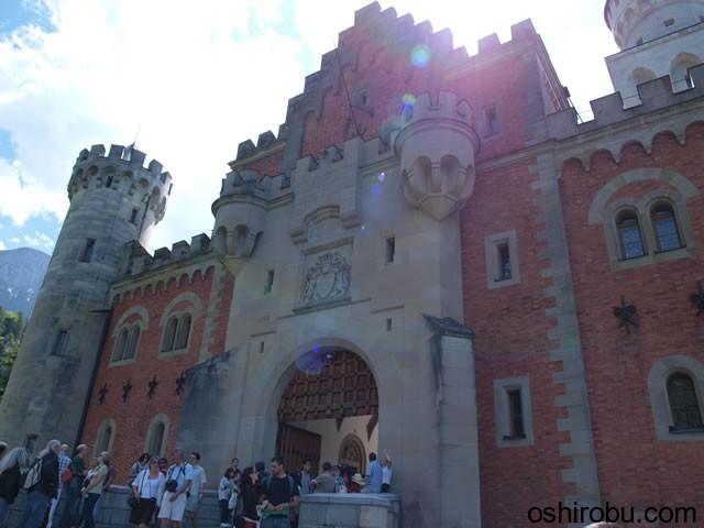 ノイシュバンシュタイン城入口