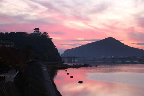 犬山城 夕景