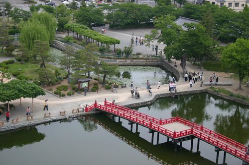 松本城 天守閣から埋の橋
