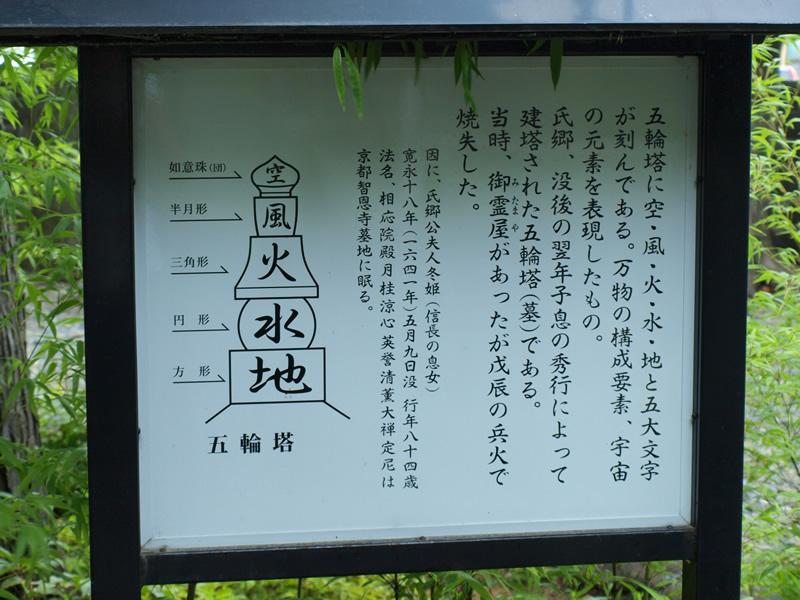 お城部ログ ~日本のお城を攻めるお城部のブログ~-蒲生氏郷の墓